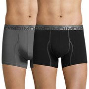 3 kosi moških boksaric DIM Cotton 3D Flex, črno-sive