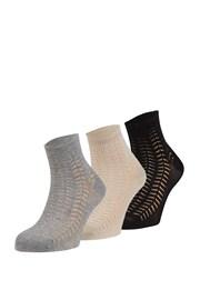 3 pari vzorčastih nogavic Luisa