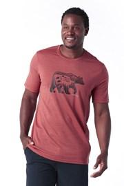 Moška majica SMARTWOOL Merino 150, rdeča