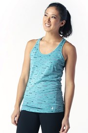 Ženska športna majica SMARTWOOL Merino, turkizna