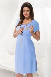 Materinska spalna srajčka za dojenje Dorota modra