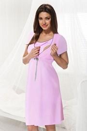 Materinska spalna srajčka za dojenje Dorota rožnata