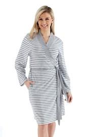 Ženski kopalni plašč Kimono, siv