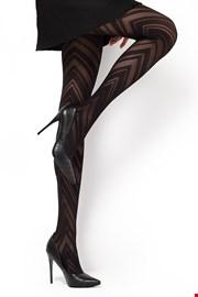 Vzorčaste hlačne nogavice Lola1 60 DEN