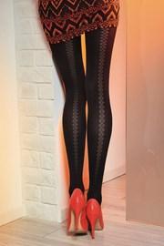 Vzorčaste hlačne nogavice Loretta 121 50 DEN