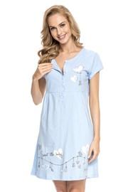 Materinska spalna srajčka za dojenje Tamara Blue