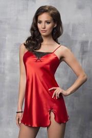 Prefinjena satenasta spalna srajčka Tare Red