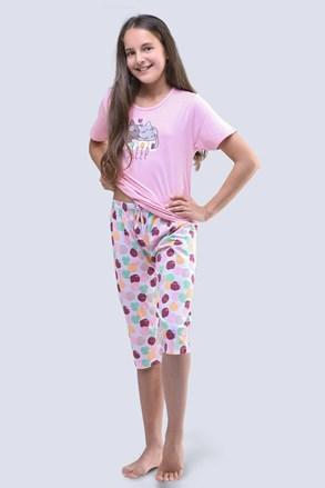 Dekliška pižama Cats, roza