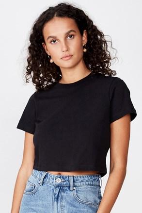 Ženska basic majica s kratkimi rokavi Baby črna