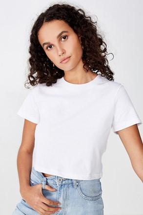 Ženska basic majica s kratkimi rokavi Baby bela