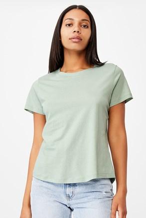 Ženska zelena basic majica s kratkimi rokavi Crew