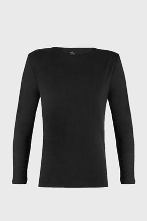 Moška majica z dolgimi roka Cotton Nature, črna