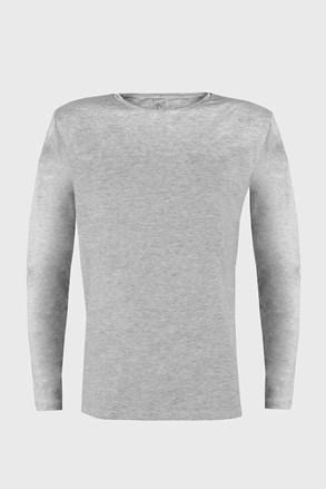 Moška majica z dolgimi rokavi Cotton Nature, siva
