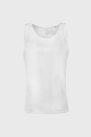 Moška majica brez rokavov Cotton Nature, bela