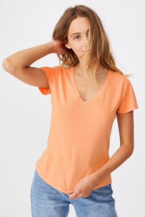 Ženska marelična basic majica s kratkimi rokavi One