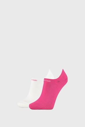 2 PACK roza bele ženske nogavice Calvin Klein Leanne