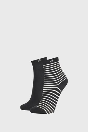 2 PACK črne ženske nogavice Calvin Klein Lilly
