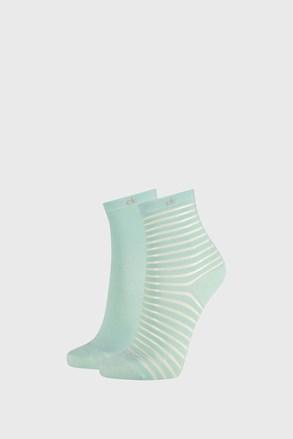 2 PACK zelene ženske nogavice Calvin Klein Lilly