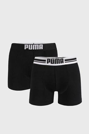 2 PACK črne boksarice Puma Placed Logo