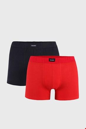 Dvojno pakiranje moških boksaric, črno-rdeče barve