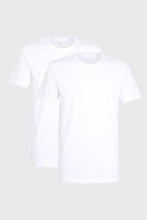 2 PACK belih majic bugatti z O-izrezom
