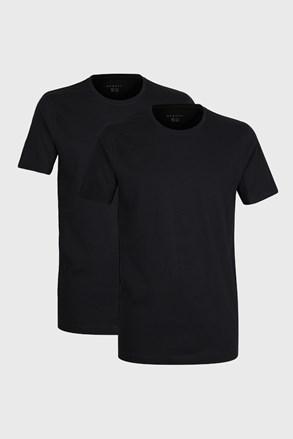 2 PACK črnih majic bugatti z O-izrezom