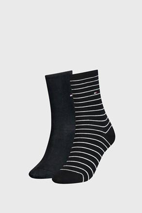 2 PACK ženske nogavice Tommy Hilfiger Small Stripe Black