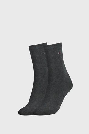 2 PACK temnosive ženske nogavice Tommy Hilfiger Casual