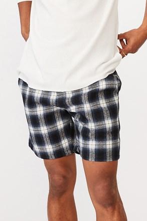 Modre kariraste kratke hlače Lounge