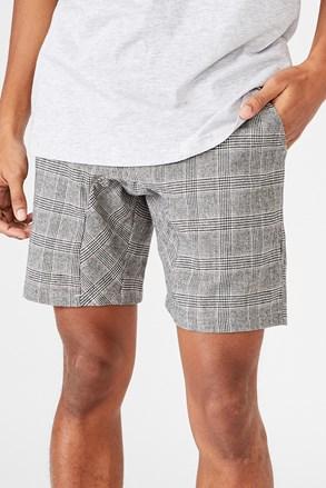 Črno-bele kratke hlače Lounge