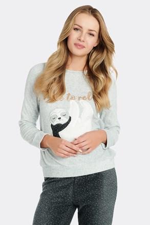 Ženska majica za spanje iz flisa