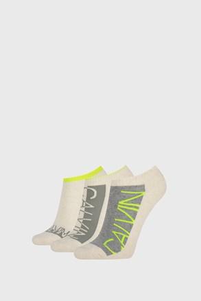 3 PACK bež ženske nogavice Calvin Klein Nola
