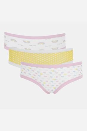 3 PACK dekliške hlačke Basic Cotton Rainbow