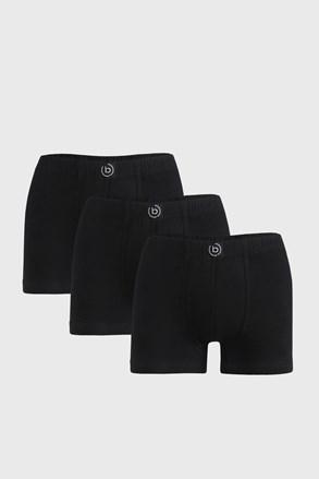 3 PACK črne boksarice bugatti Finian