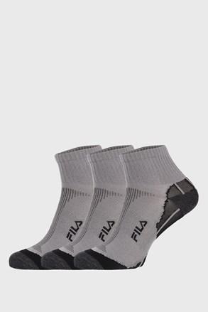 3 PACK sivih nogavic FILA Multisport