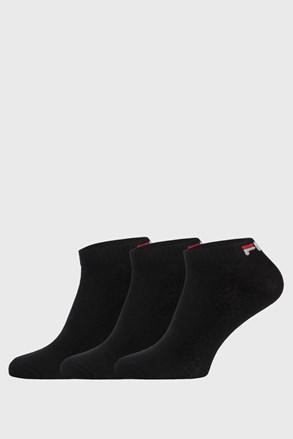 Trojno pakiranje črnih nizkih nogavic FILA