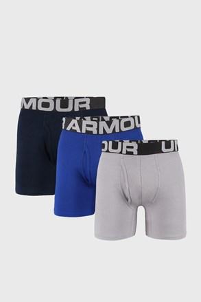 3 PACK modro sive boksarice Under Armour Cotton