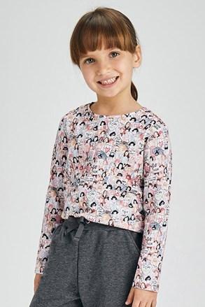 2 PACK dekliških majic z dolgimi rokavi