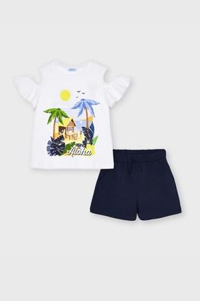 Komplet dekliška majica in kratke hlače Mayoral Aloha