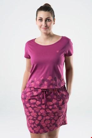 Ženska temno-roza obleka LOAP Asmen
