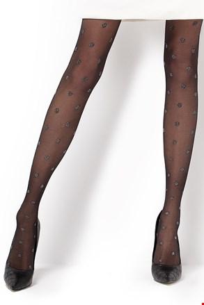Vzorčaste hlačne nogavice Carina 20 DEN