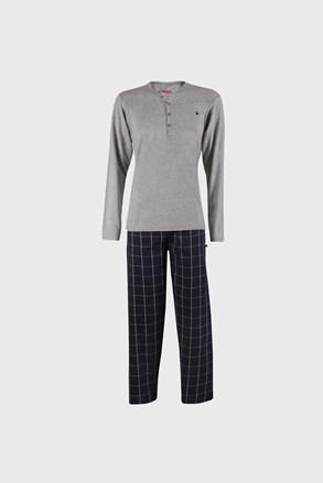 Sivomodra pižama Calebron