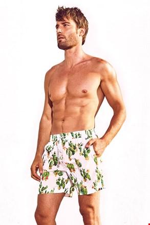 Moške kratke plavalne hlače DAVID 52 Cactus