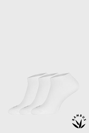 3 pari nogavic iz bambusa Desi, bele