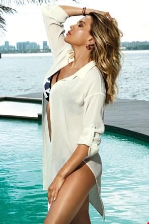 Obleka za na plažo Patricia, bela