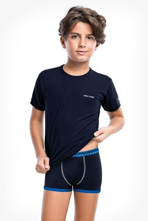 Modri komplet deških boksaric in majice