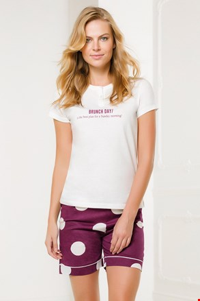 Ženski belo-roza komplet Brunch Day