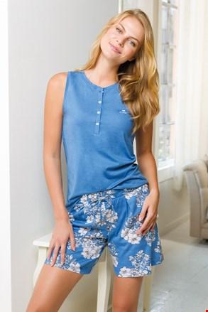 Ženska kratka modra pižama