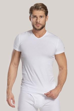 Moška majica V neck, bela