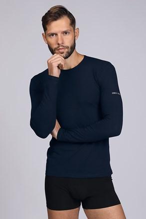 Temnomodra majica z dolgimi rokavi